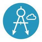 Technical and data architecture plan icon [Successful digital transformation]