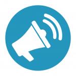 A communication plan icon [Successful digital transformation]