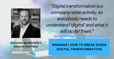 digital business education webinar: how to break down digital transformation