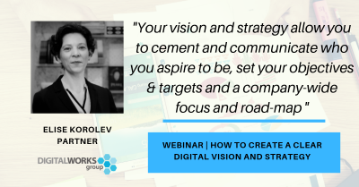 digital business education webinar: how to create a clear digital vision and strategy
