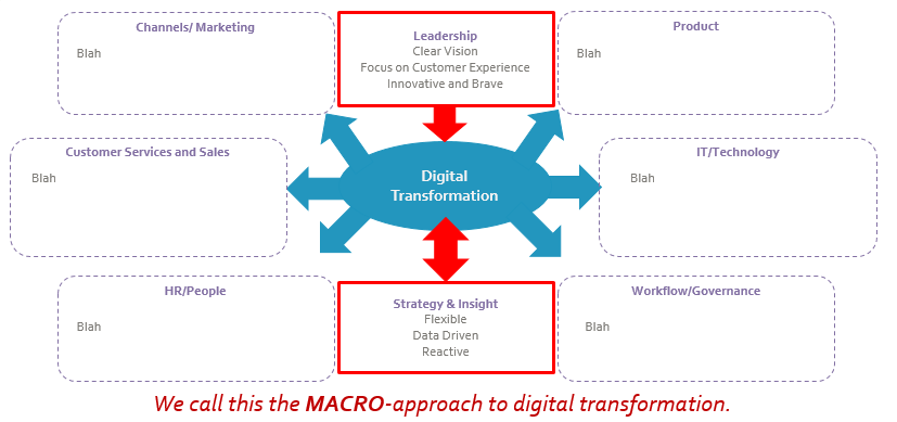 Macro approach to digital transformation graphic