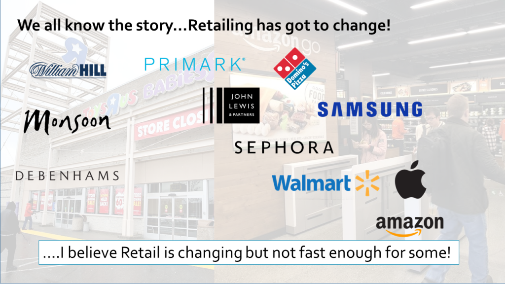 Retail transformation slide detailing why retailing must change